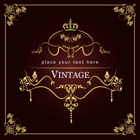 dinner date: Invito carta vintage. Wedding Day o Valentine `s. Vettoriali