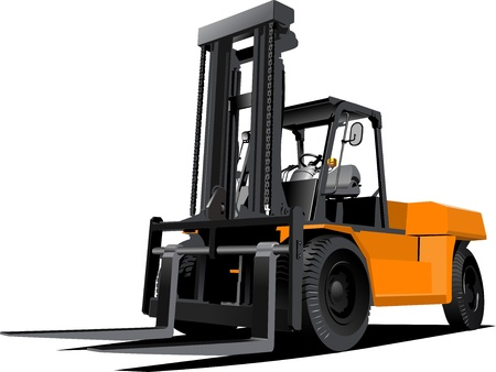 lift truck: Carretilla elevadora. Carretilla elevadora. ilustraci�n