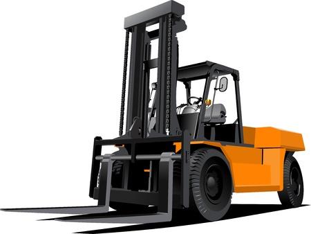 forklift truck: Lift truck. Forklift. illustration