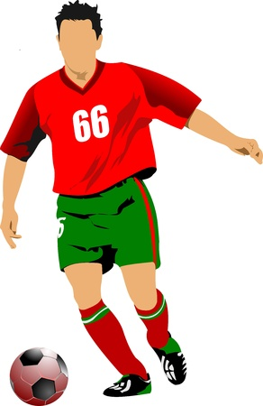 Soccer football player. Colored  illustration for designers Vector