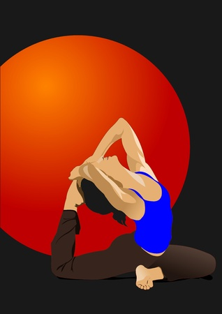 mind body soul: Yoga pose -  poster
