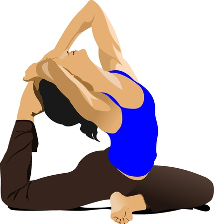 Yoga pose -  poster Vector