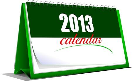 illustration of desk calendar. 2013 year Vector