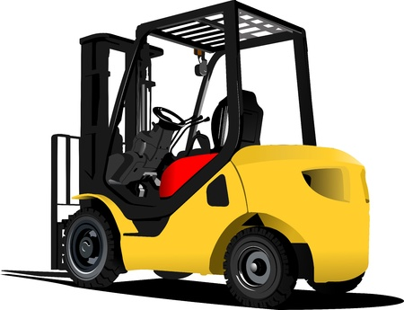 fix gear: Lift truck. Forklift. illustration