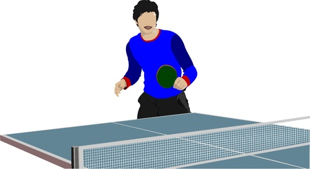 time table: Ping pong player  silhouette