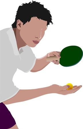 Tischtennis-Spieler Silhouette