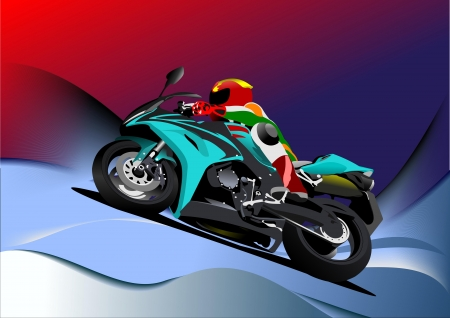 Abstract  background with motorcycle image  Illustration