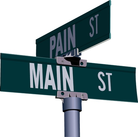 street intersection: Pure guide sign of crossing of streets against the white background Illustration