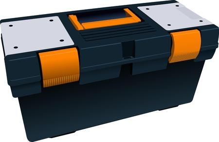 plastic box: Plastic box full for tools