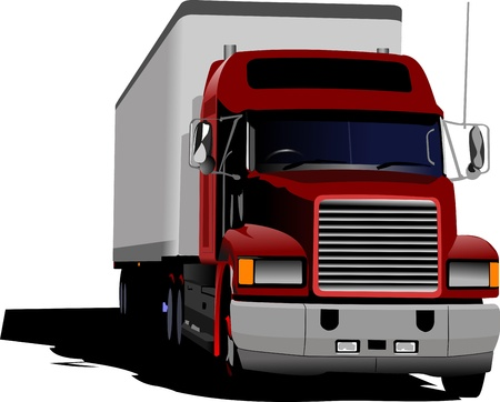 Blue abstract background with truck image Stock Vector - 12802294