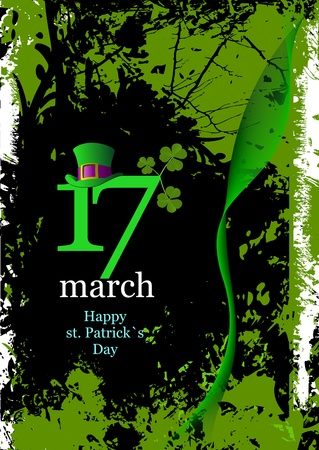 green hats and shamrocks for St. Patricks Day Vector
