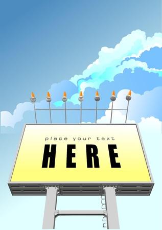 publicity: Big billboard publicity over blue sky