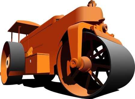 gravel roads: Road  roller