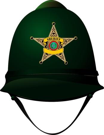 sheriffs: Sheriff`s cap illustration