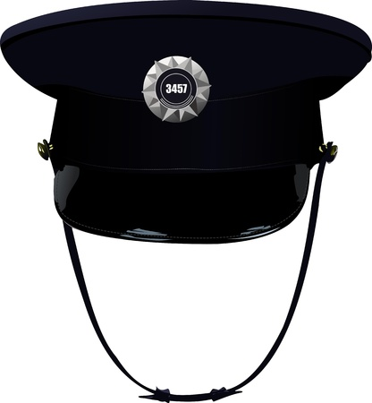 Sheriff`s cap illustration Vector