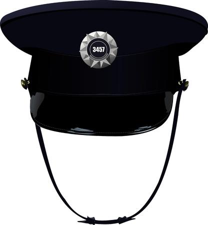 gorra policía: Sheriff `s tapa de la ilustración