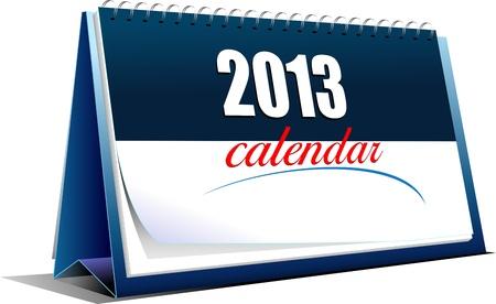 calendario da tavolo: Illustrazione vettoriale del calendario da tavolo. 2013 anni Vettoriali