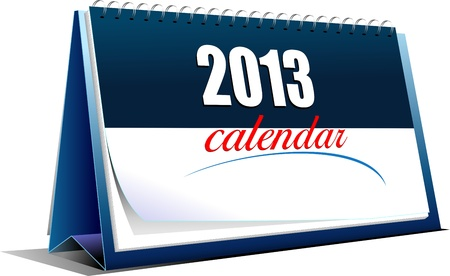Vector illustration of desk calendar. 2013 year Vector