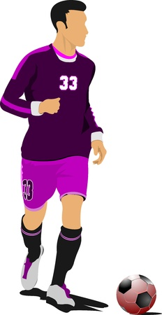 Soccer football player. Colored Vector illustration for designers Vector