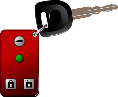 Car key with remote control isolated over white background. Stock Vector - 14829586