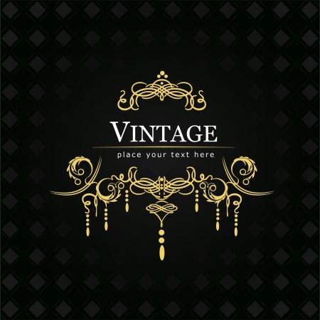 inbjudan: Inbjudan vintage kort Bröllop eller alla hjärtans dag Illustration