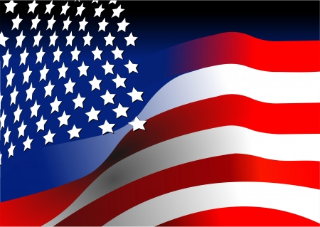 american flag waving: 4th July – Independence day of United States of America  American flag  Vector illustration