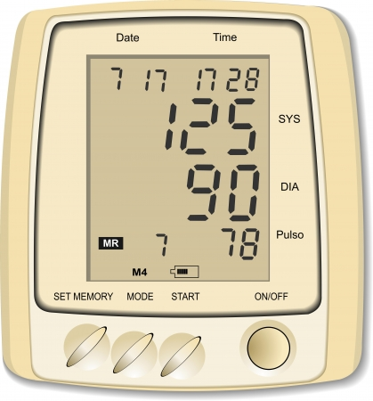 Blood Pressure Monitor  Medical iqupment Vector