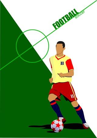 footbal: Footbal (soccer) player. Colored Vector illustration for designers Illustration