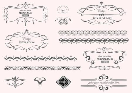 decorative design elements.  Vector