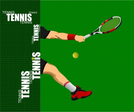 Tennis poster. Colored Vector illustration for designers Vector