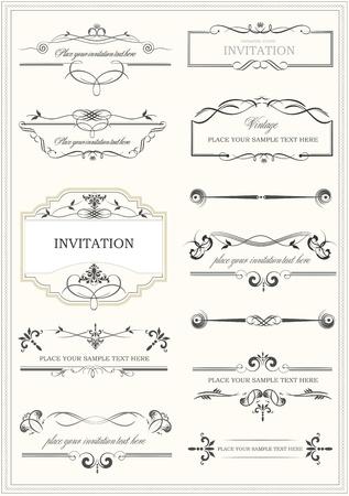baroque: Elementos caligr�ficos, separadores y de ajuste vintage frame.