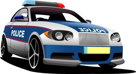 municipal: Police car  Municipal transport  Vector illustration  Illustration