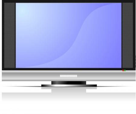 Screen of Plasma or LCD TV set Vector