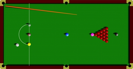 snooker: Snooker table and cue  vector illustration