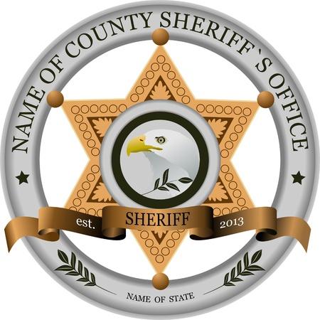 Sheriff Abzeichen Illustration