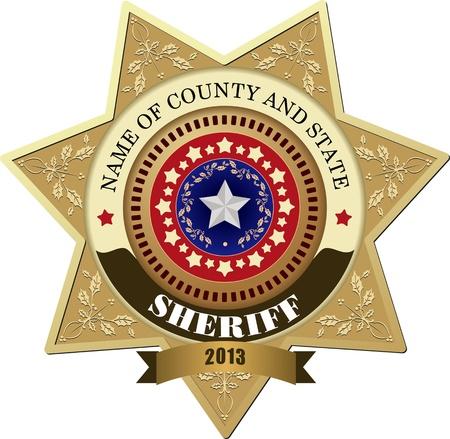 autoridades: Placa de Sheriff s