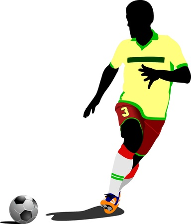 goalkeeper: Football  soccer  players  Colored Vector illustration for designers