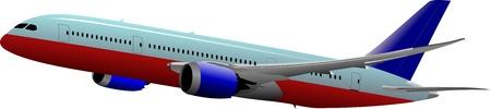mode of transportation: Aereo sul Illustrazione vettoriale aria