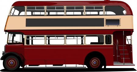 london bus: London double Decker  red bus  Vector illustration