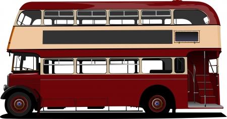 decker: London double Decker  red bus  Vector illustration