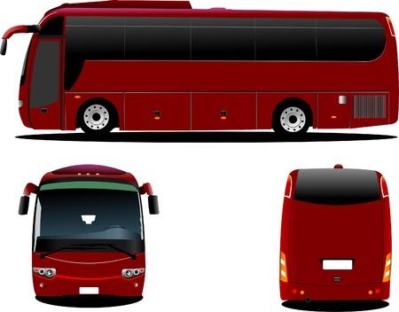 tourist bus: Purple bus. Tourist coach. Vector illustration for designers Illustration