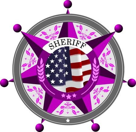 sheriffs: Sheriffs badge on a white background
