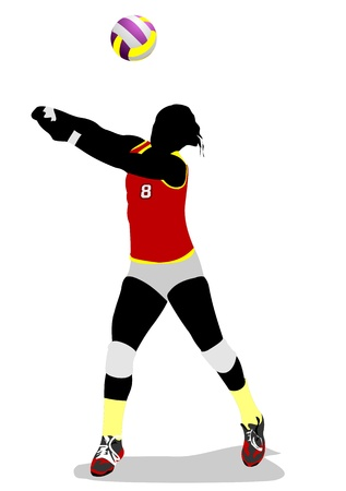 Women volleyball silhouette. Vector illustration Vector