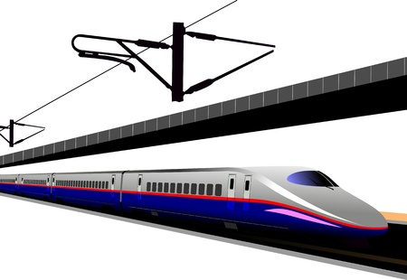 Shinkansen bullet train.  illustration