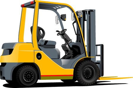 headlight: Lift truck. Forklift.  illustration