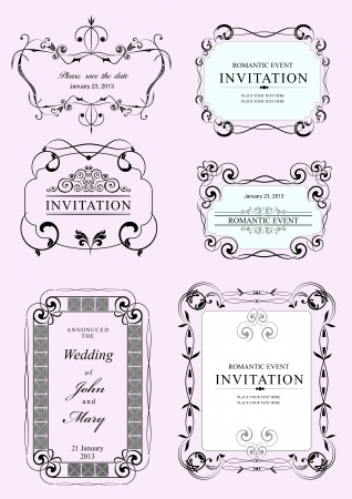 Collection of vector frames and ornaments with sample text. Stock Vector - 23125521