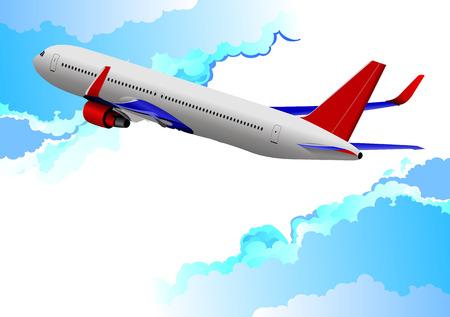 taking off: Avi�n despegando ilustraci�n vectorial para dise�adores Vectores