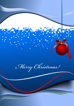 bubble background: Greeting card for Merry Christmas or Happy New Year  Vector illustration Illustration