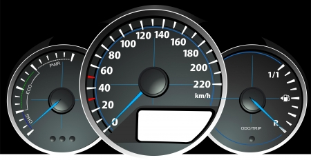 kilometer: Speedometer. Accelerating Dashboard. Vector illustrator Illustration