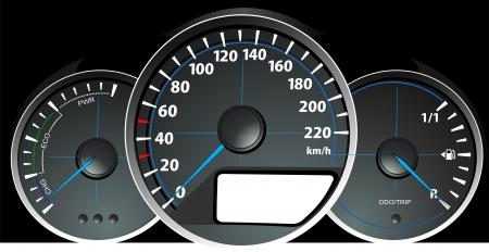 accelerating: Speedometer. Accelerating Dashboard. Vector illustrator Illustration